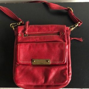 The SAK Red Leather Crossbody bag